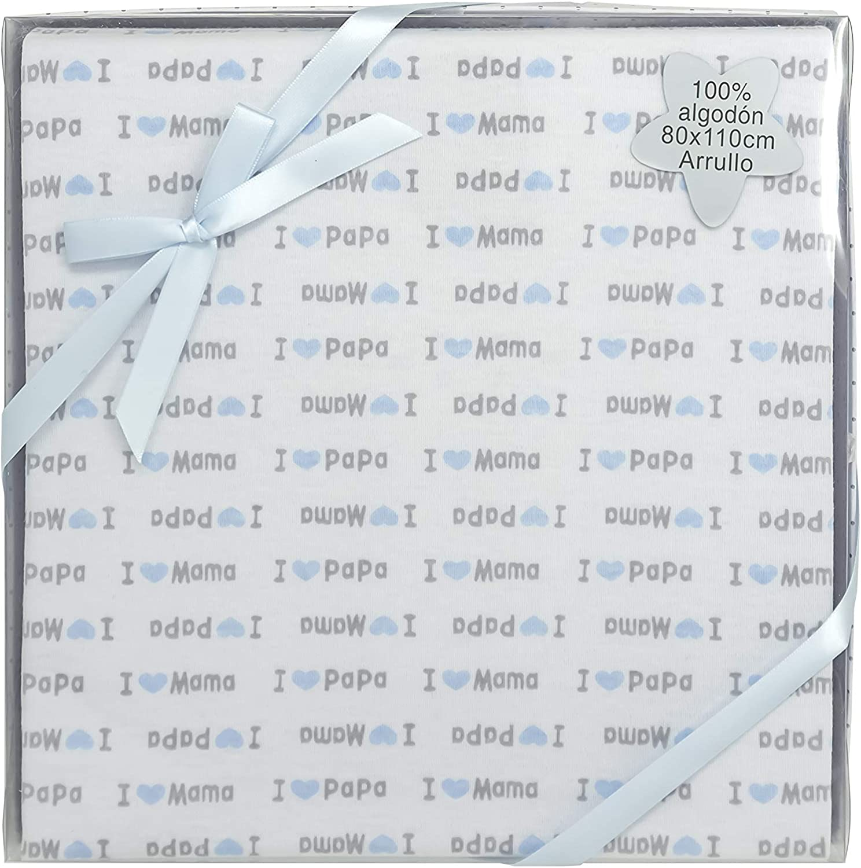 Duffi Baby 5640-12 - Arrullo estampado 100% algodón, 80 x 110 cm: Amazon.es: Bebé