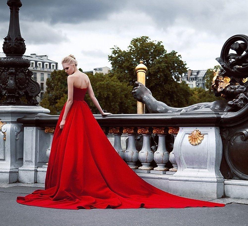 Amazon.com: JoyVany Women Strapless Prom Dresses Wedding Dress Long 2018 Formal Gowns JV435: Clothing