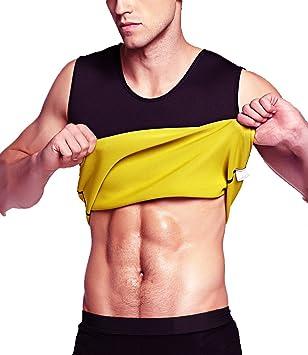 f64d977ba0124 Aliver Men Hot Sweat Body Shaper Waist Trainer Vest Neoprene Corset Sauna  Suit Workout Tank Top