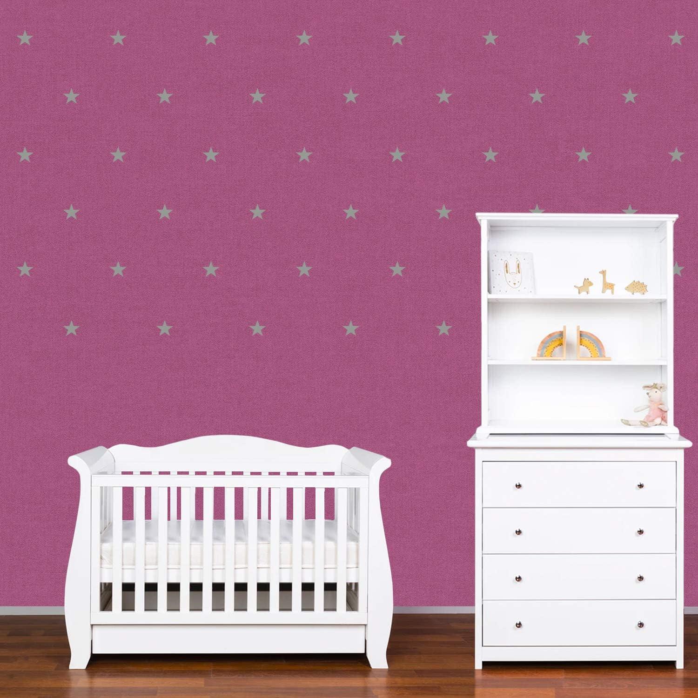 Autocollants D/écoration Murale Chambre B/éb/é PREMYO Set de 70 Stickers Muraux Enfants /Étoiles Facile /à Poser Blanc