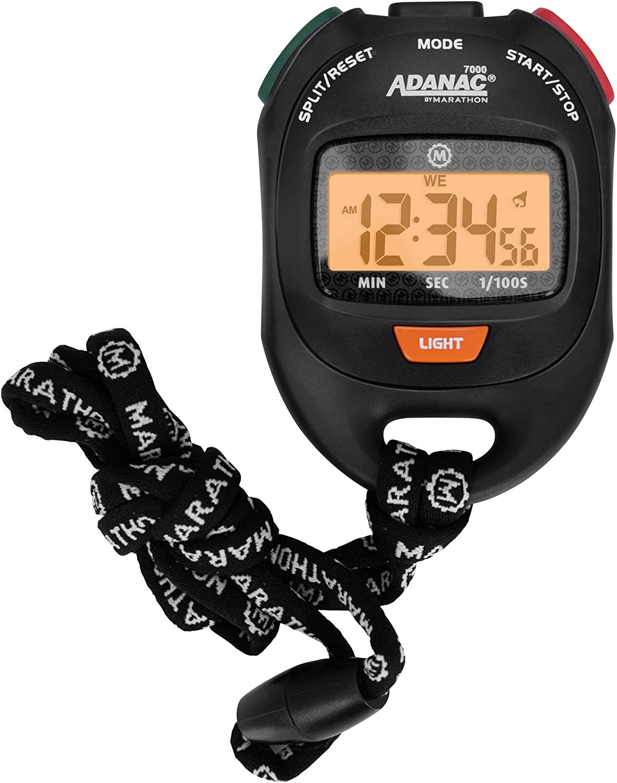 Wasserabweisend Marathon Adanac 3000/Digitale Stoppuhr Timer mit Extra Gro/ßem Display und Tasten