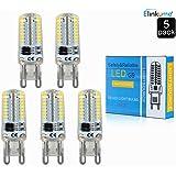 5X G9 5W SMD 3014 LED Ampoule économies d'énergie Lampe Super Lumineux Spot Lamp Blanc Chaud