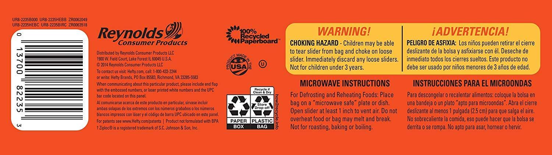 Amazon.com: Hefty Slider Freezer Bags - Gallon Size, 96 ...