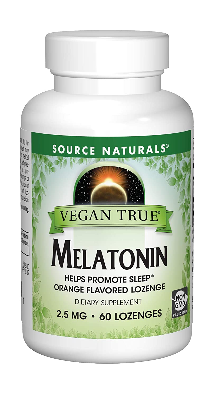 Amazon.com: SOURCE NATURALS Vegan True Melatonin 2.5 Mg Orange Lozenge, 60 Count: Health & Personal Care