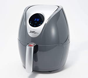 Power XL 2.4-qt Digital 1200W Air Fryer with Recipes and Divider