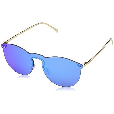 Ocean Eye Gafas de Sol, Azul (BLU/Oro), 55 Unisex Adulto: Ropa y accesorios