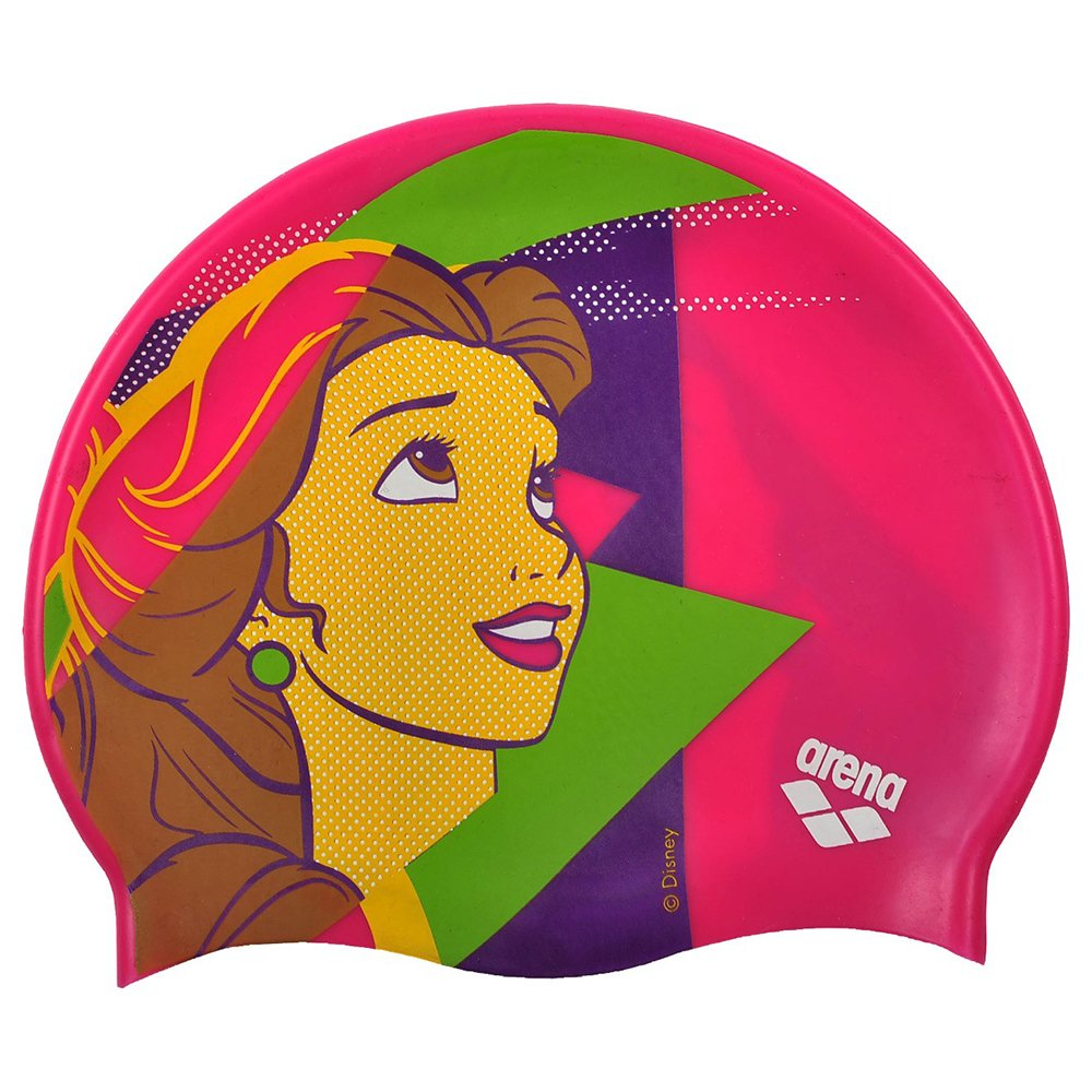 ARENA DM Jr Gorro de Nataci/ón Disney Belle Talla /Única Multicolor