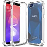 Bracevor Oppo Realme 1 | Back Case Cover | Stylish Flexible Shockproof TPU | Cushioned Edges | Premium Design - Transparent