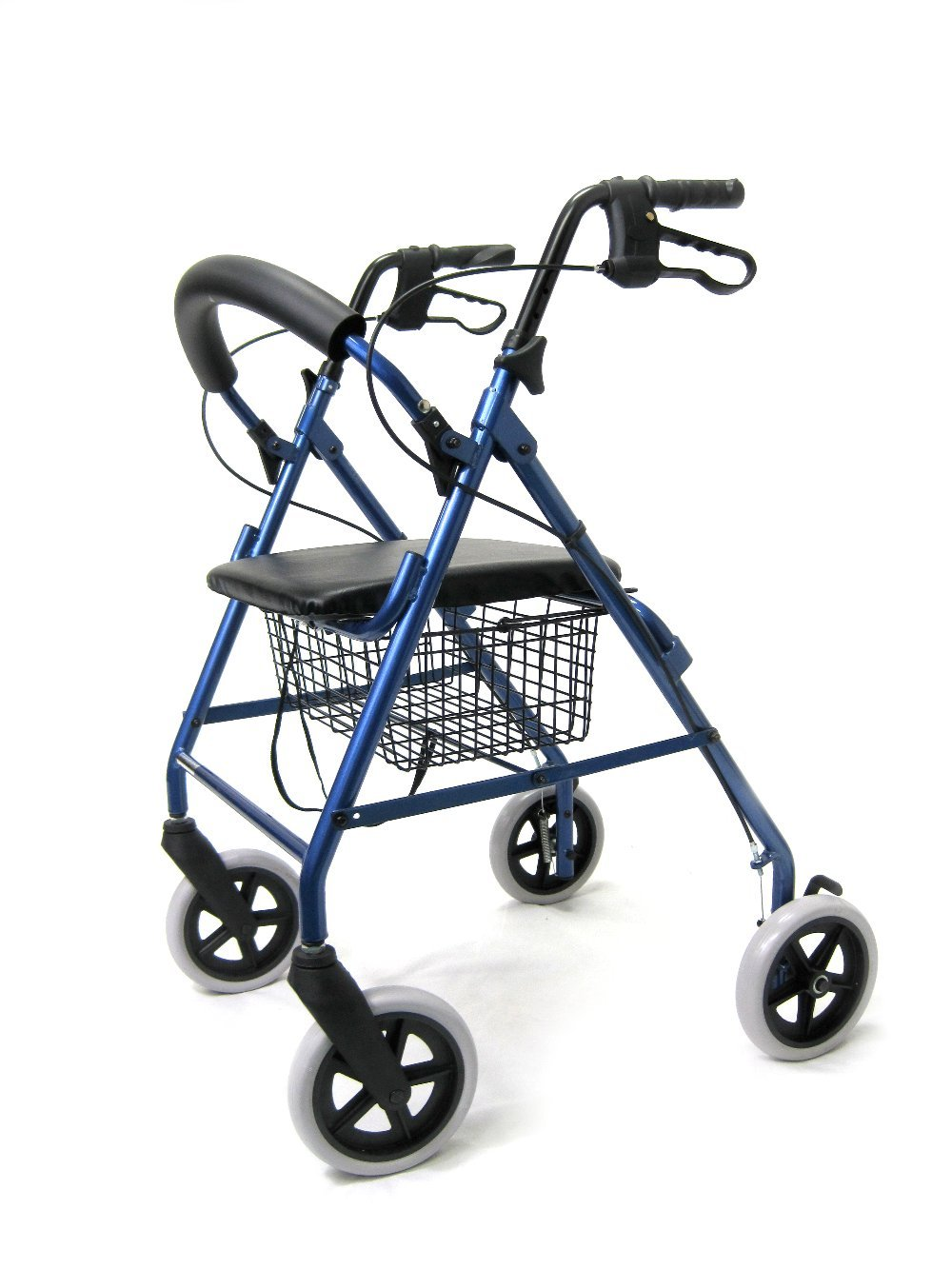 Karman Healthcare R-4608 Aluminum Rollator, Blue, 8 Inches Casters