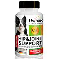 Natural Hip & Joint Support for Dogs with MSM: Advanced Glucosamine Chewable Supplement with Vitamins (A, E, C) - Arthritis and Pain Relief - Skin & Coat and Bone Health - Beef Flavor