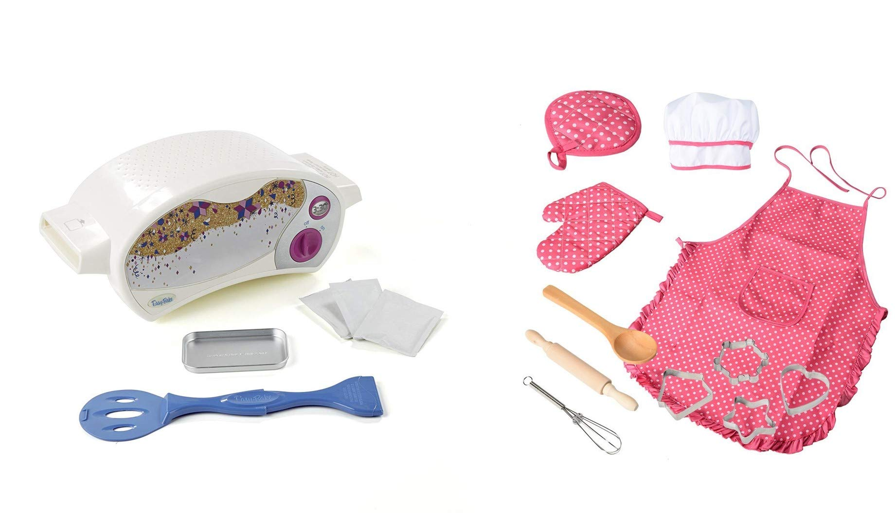 Easy Bake Oven 11 Pc Chef Set Bundle - Apron, Chef Hat, Oven Mits and Accessories Included