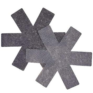 Protectores de sartén juego de 8, ollas y sartenes separador antideslizante para evitar los arañazos telas no tejidas para ollas, sartenes, skillets, ...
