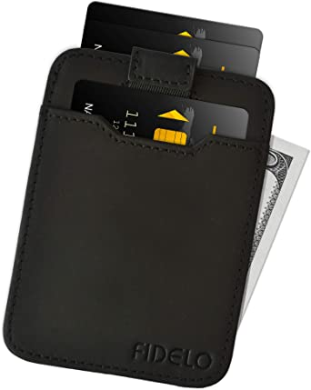 Slim Wallet Credit Card Holder Leather RFID Blocking Minimalist Men/'s Wallet