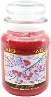 product image for A Cheerful Giver Aspen Berry 24 oz Jar Candle, Red