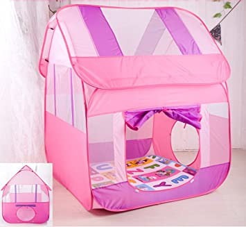 Princess Pink Pop-up Play Tent Children Big Portable Play House Tent 47.2u0026quot; & Amazon.com: Princess Pink Pop-up Play Tent Children Big Portable ...