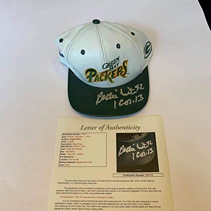 695f215e Rare Reggie White Signed Green Bay Packers Leather NFL Hat Cap With ...
