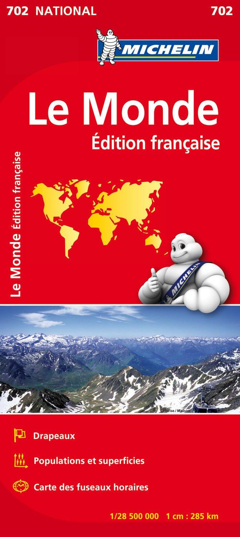 Carte NATIONAL Le Monde (Multilingue) Broché – 4 avril 2012 Collectif Michelin 2067170406 Cartes et Plans Voyages