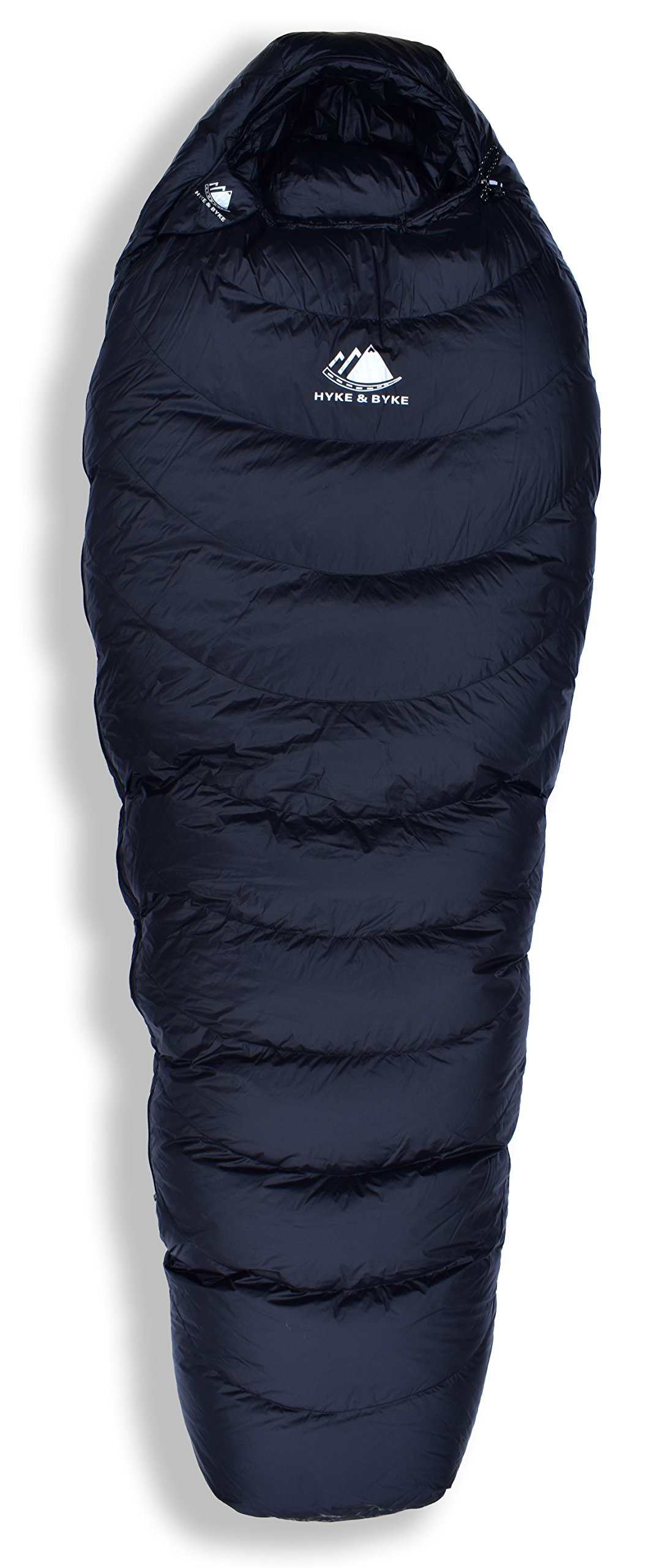 Hyke & Byke Quandary 15 Degree F 650 Fill Power Hydrophobic Down Sleeping Bag with ClusterLoft Base - Ultra Lightweight 3 Season Men's and Women's Mummy Bag Designed for Backpacking 4