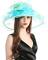 MissCynthia Women's Organza Church Derby Fascinator Cap Kentucky Tea Party Wedding Hat