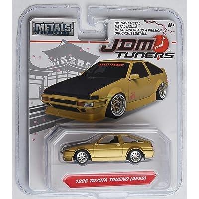 Jada JDM Tuners 1:64 Scale, Gold 1986 Toyota Trueno (AE86): Toys & Games