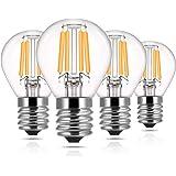 Vintage Led Edison Light Bulb , DORESshop Antique S11 Led Filament Glass Bulbs, No Dimmable, 4W(40W Equivalent), 350LM, E17 I