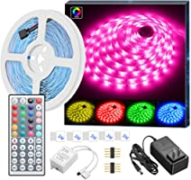MINGER LED Strip Lights with Remote, Colored Rope Light Kit for Room Bedroom Kitchen Home Bar Party Lighting Decoration,...