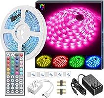 MINGER LED 帶遙控燈,彩色繩燈套件,適用于房間、臥室、廚房、家庭酒吧派對照明裝飾,16.4 英尺/32.8 英尺,帶明亮的 5050 LED,結實的 3M 粘合和切割設計