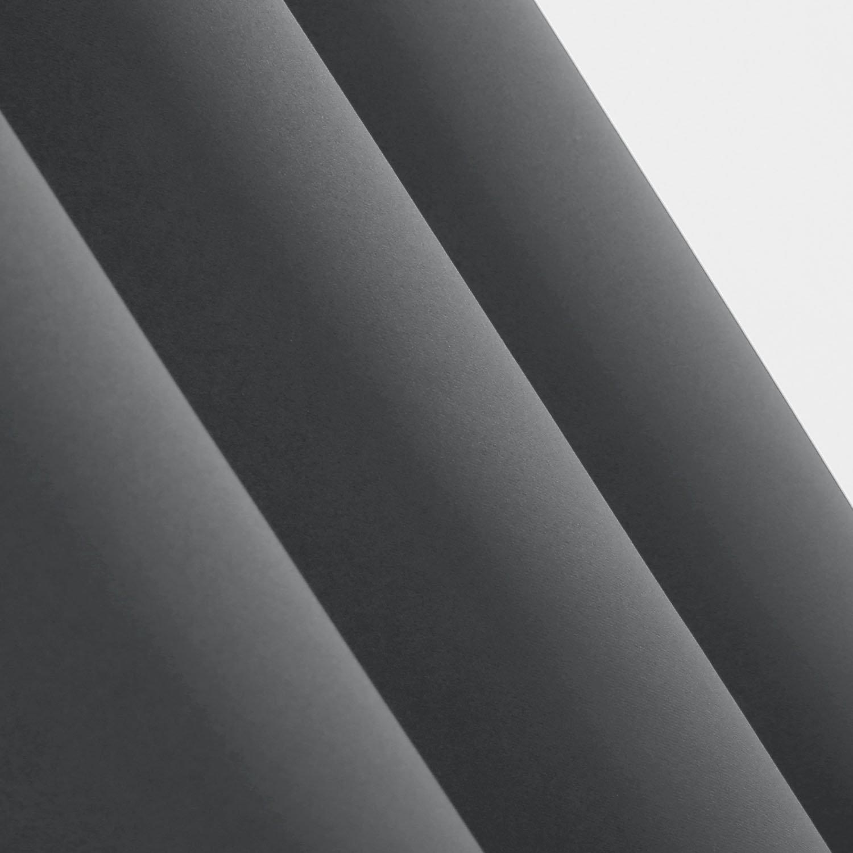 Deconovo Verdunkelungsvorhang /Ösen Gardinen Wohnzimmer Vorhang Blickdicht 138x132 cm Beige