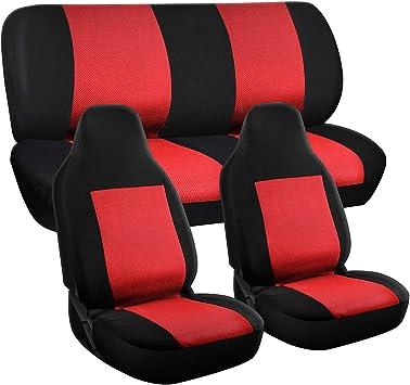 Fits Select Vehicles Car Truck Van SUV Full Set Motorup America Gray//Black Auto Seat Cover