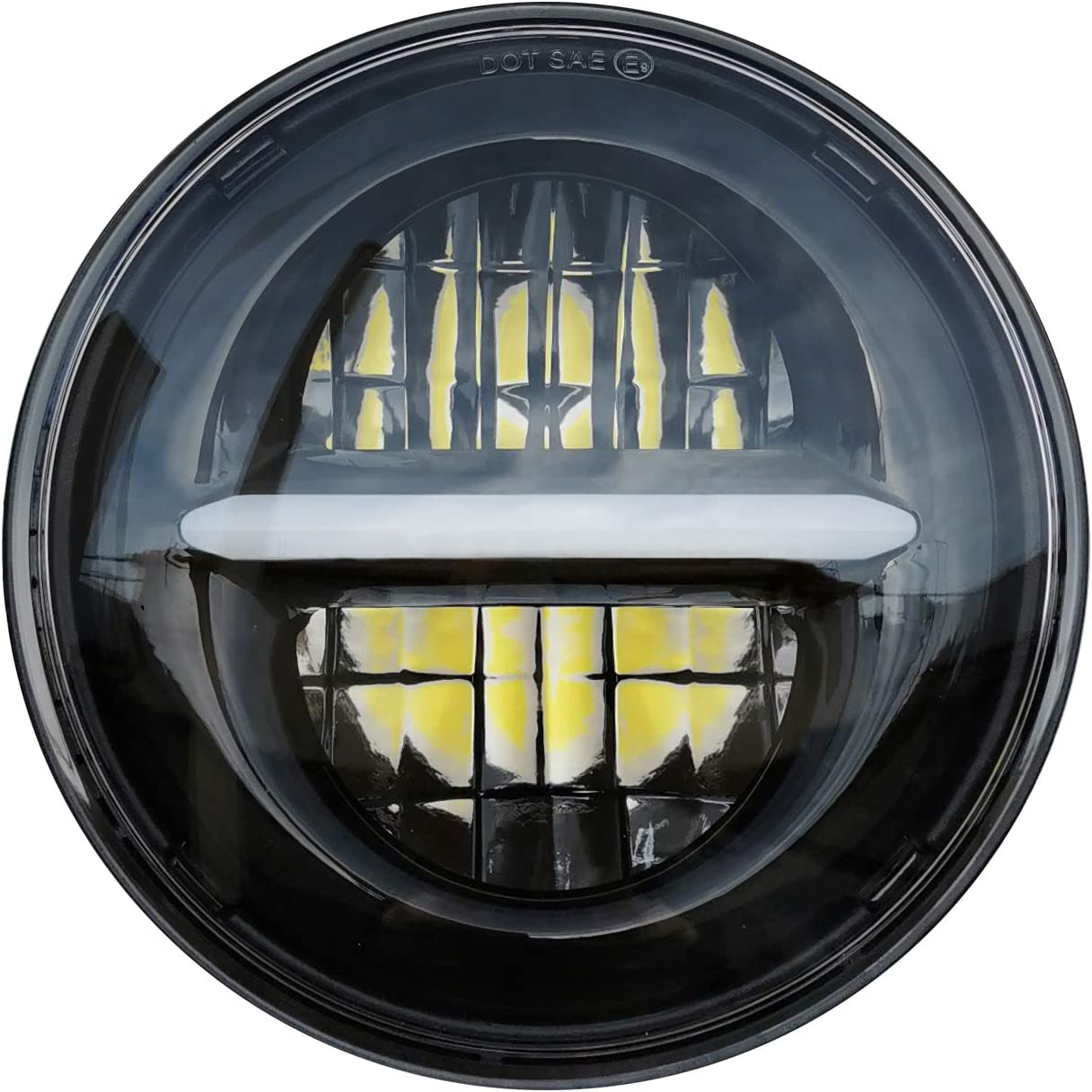 Lenkerendenspiegel Oval für Harley Sportster 883 Superlow schwarz