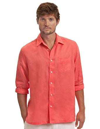 44b883828ce1 Island Company Coral Classic Linen Shirt at Amazon Men s Clothing store