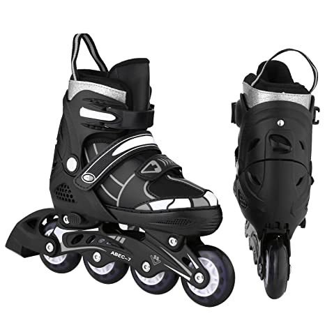 Various Colours and Sizes Childrens Adjustable Inline Skates/Inliners with Light-up Wheels Sports & Outdoors