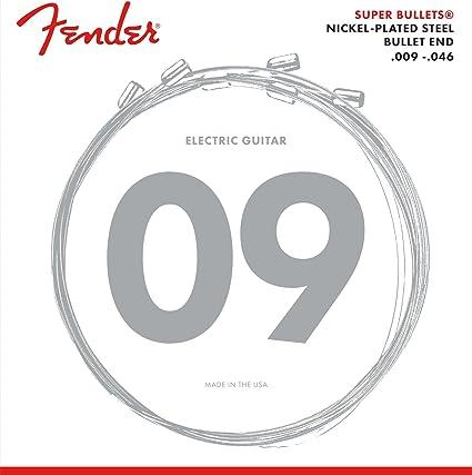 Fender 073-3250-404 Super Bullet 3250LR 09-46 Cuerdas de guitarra ...