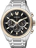 Citizen Herren-Armbanduhr XL Super Titanium Chronograph Quarz Titan CA4014-57E