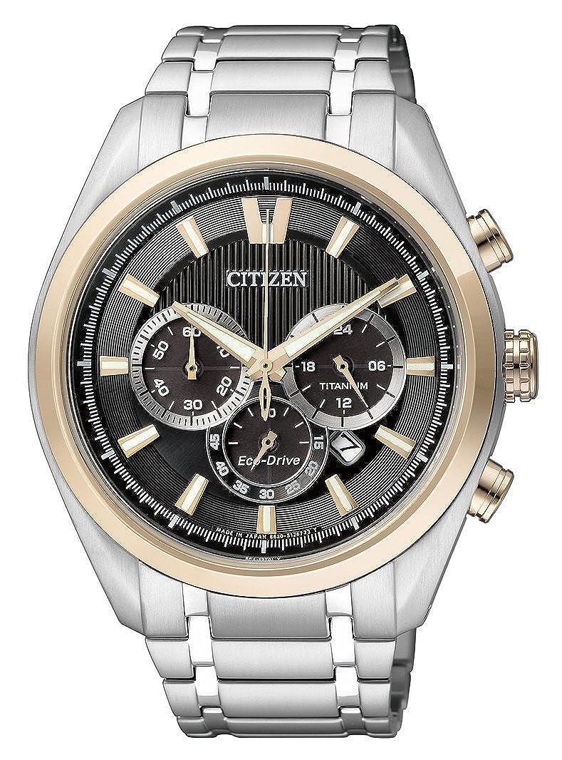 Amazon.com: Citizen Mens Eco-Drive Chronograph Watch Quartz Mineral Crystal CA4014-57E: Watches
