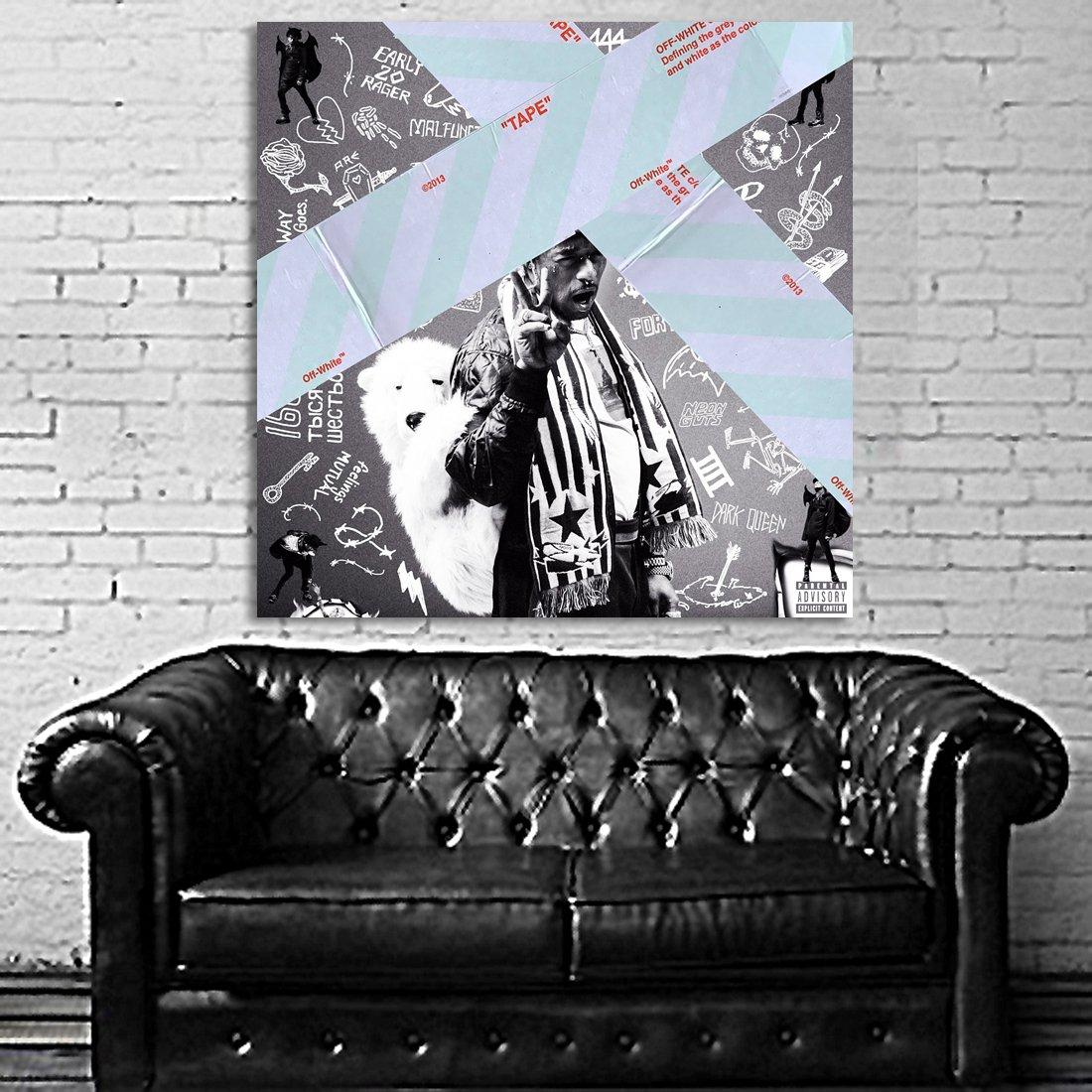 Poster Mural Lil Uzi Vert 40x40 inch (100x100 cm) on Adhesive Vinyl #10