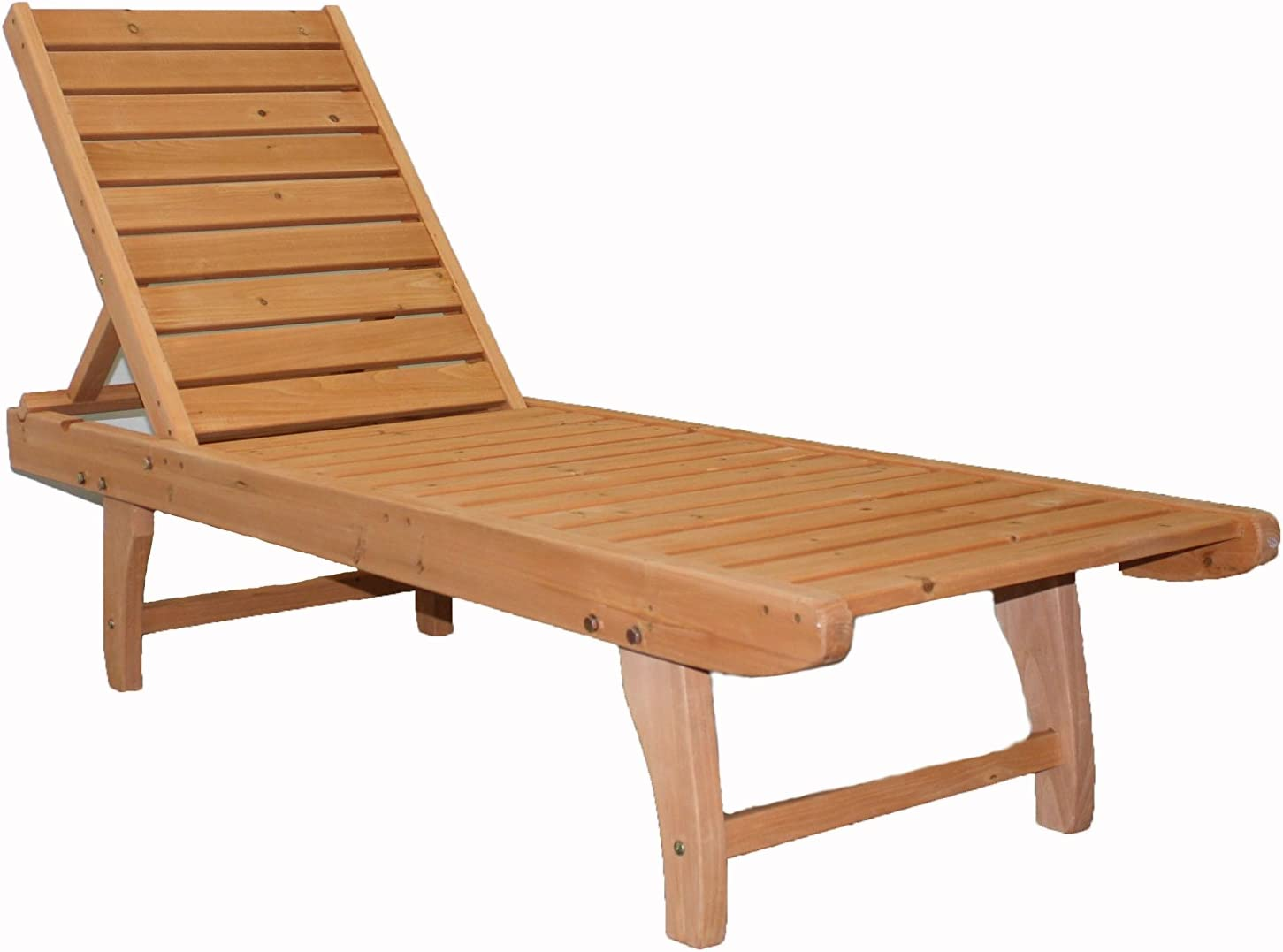 JinJiu Outdoor Wooden Chaise Lounge : Garden & Outdoor