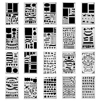Amazon Pawaca 図面テンプレート 描画ツール 絵描き道具 塗り絵