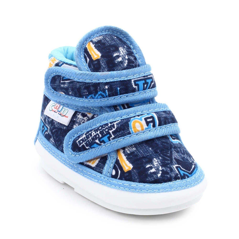 CHIU Chu Chu Blue Shoes With Double Strap For Baby Boys & Baby Girls