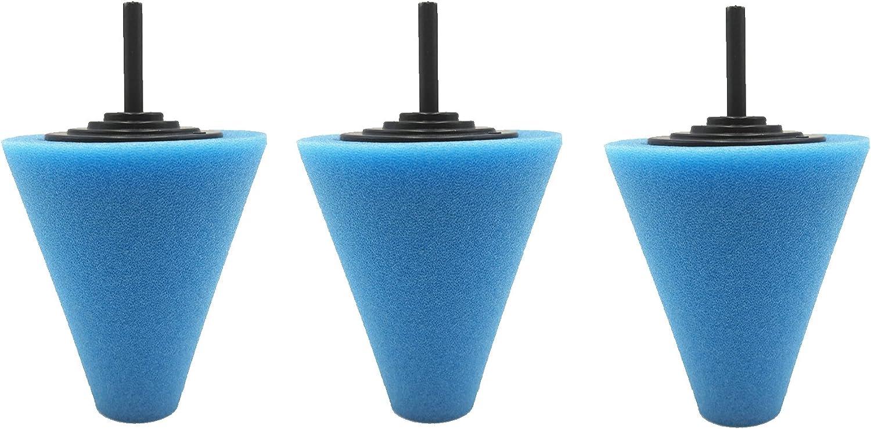 Antrader 3-Pack Drill Buffing Sponge Pads Kit, 1/4