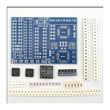 SMT SMD Componente Soldadura Práctica Junta Soldador DIY Kit Resitor Diodo Transistor por Inicio Aprendizaje Electrónico: Amazon.es: Electrónica