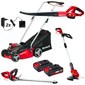 Kit de jardín Power X-Change de Einhell, con cortacésped ...