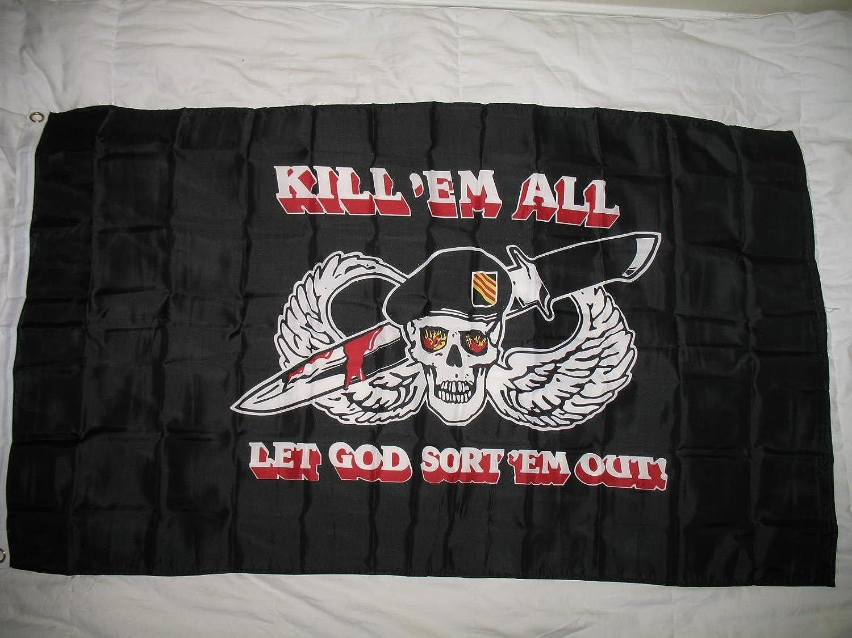 Black Kill Em All Polyester 3 X 5 Flag