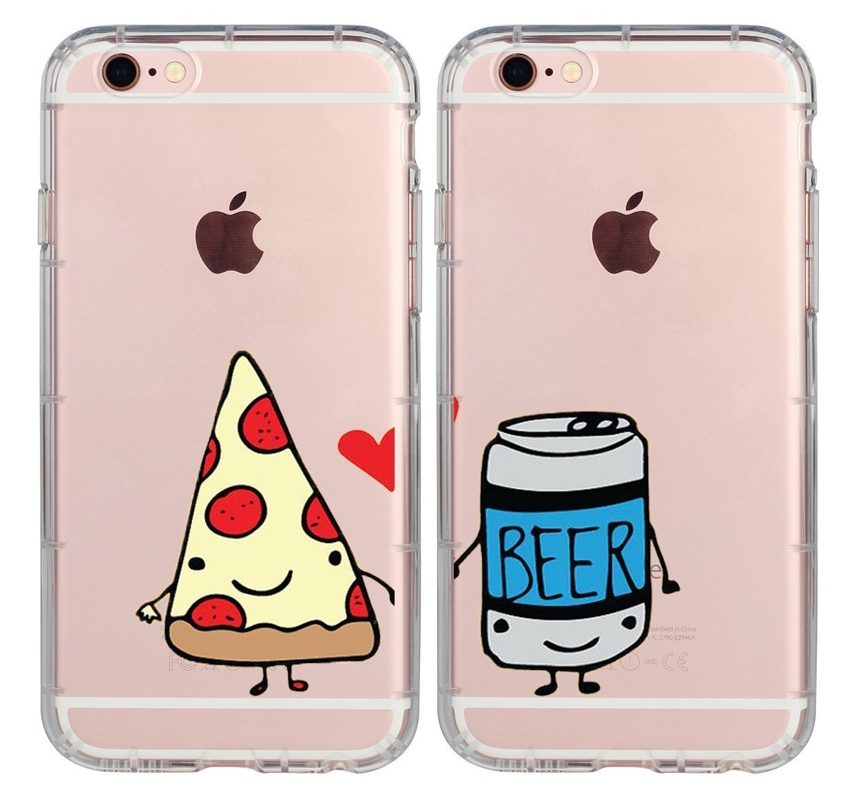 brand new 69dc1 c30eb iPhone 7 Case for Her,iPhone 8 Case,Cute Best Friends Things for Girls  Boys,FriendShip Pizza & Beer Princess & Prince Bff Matching Funny Love  Sisters ...