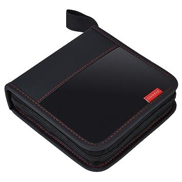 CD Case, Coofit 80 capacidad DVD estuches de almacenamiento ...