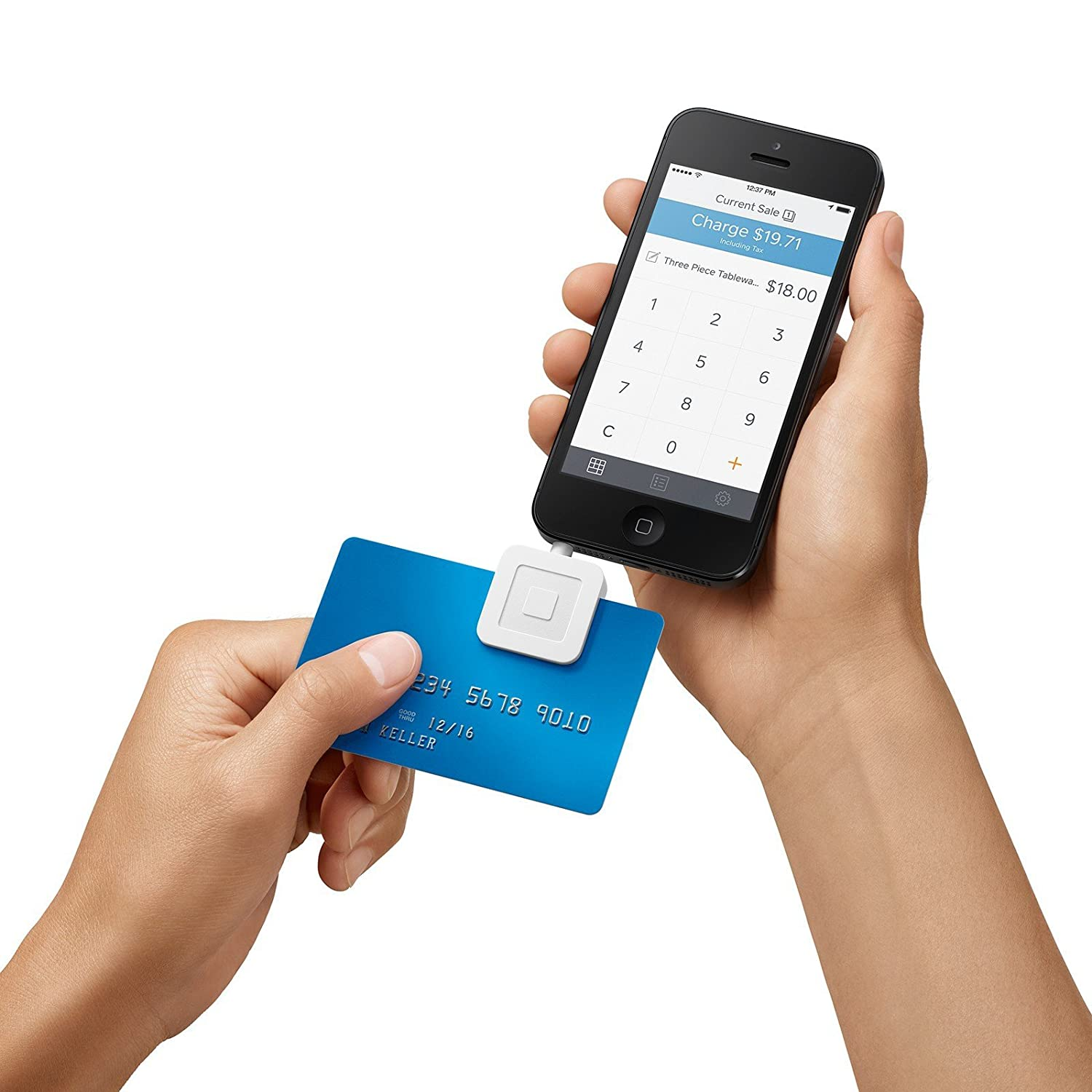 Phone Square App For Android Phone amazon com square credit card reader for iphone ipad and android cell phones accessories