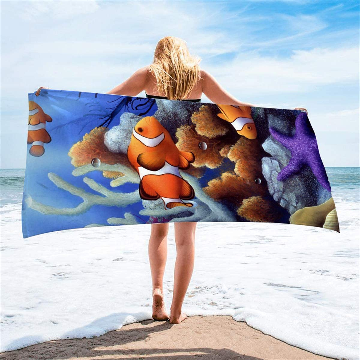 Bath Travel Beach Micro Fibre Large Towel Holiday Swimming Camping Gym Sport