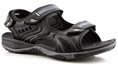 1fe6d74848a PDQ Mens 3 Touch Fastening Synthetic Nubuck Sports Sandals Shoes Size 6-12:  Amazon.co.uk: Shoes & Bags