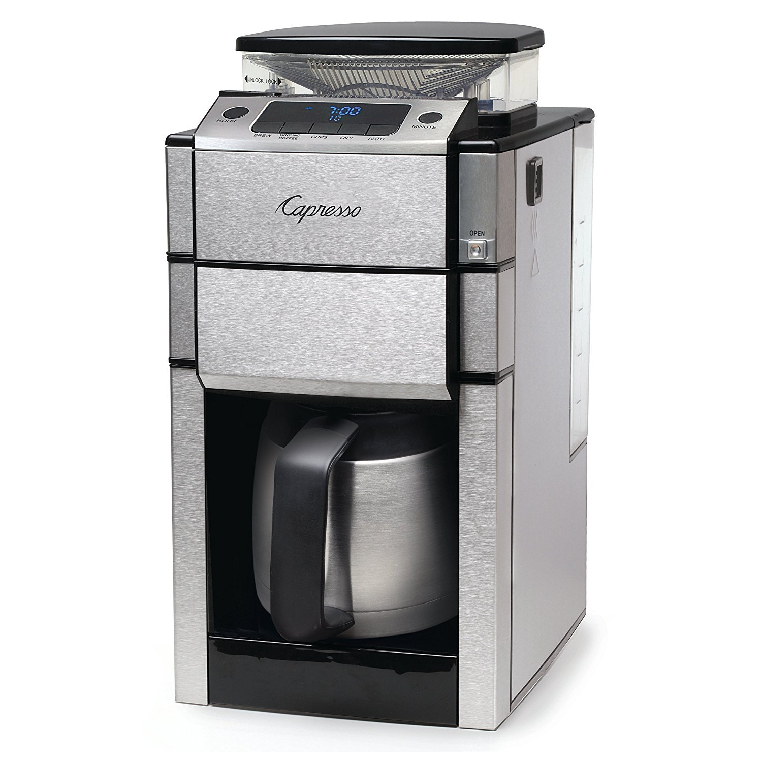 Capresso 488.05 Team Pro Plus Thermal Carafe Coffee Maker, Silver