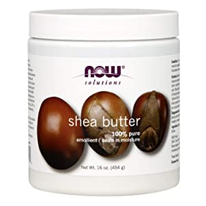 Now Solutions, Shea Butter, Skin Emollient, Seals in Moisture for Dry Rough Skin, 16-Ounce